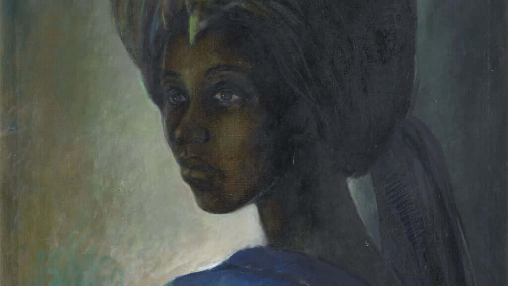 The long lost painting known as Africa's Mona Lisa has sold for a record price