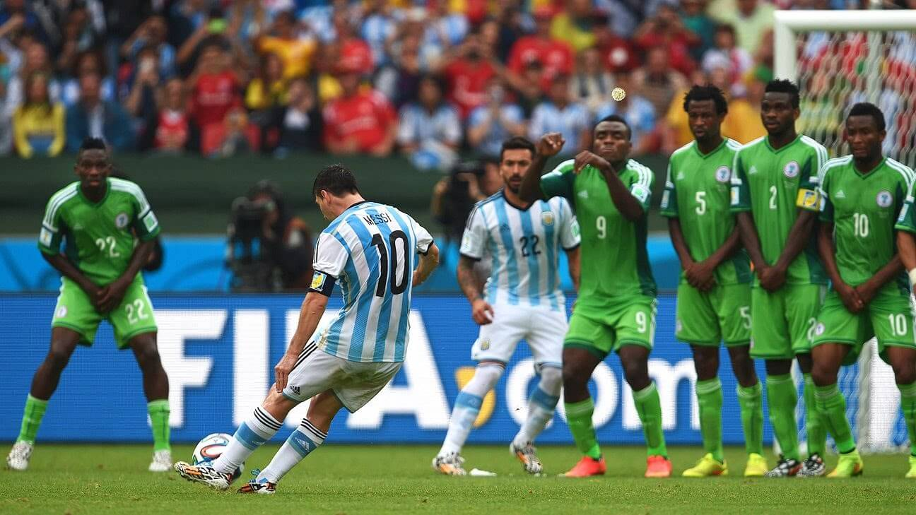 Nigeria and Argentina meet for fifth time at the World Cup
