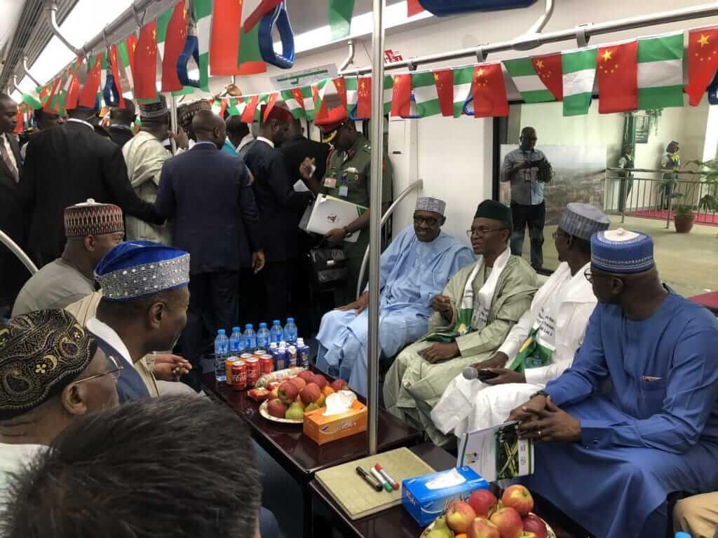 President Buhari Commissions Abuja Metro Stati