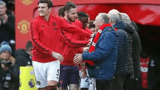Manchester United invited elderly fans on to pitch before Watford game to highlight loneliness issue