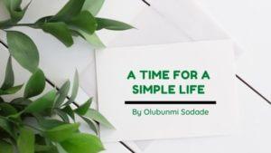 A Time for a Simple Life _ Olubunmi Sodade