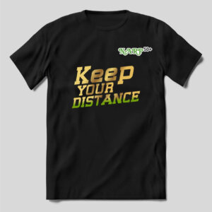 "TShirt – ""Keep your distance"" with Narp50Plus logo"