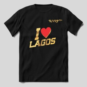 "TShirt – ""I love Lagos"" Red Love Symbol"