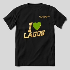 "TShirt – ""I love Lagos"" Green Love Symbol"